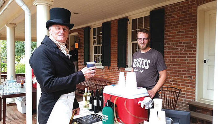 Col. Stephenson (aka Walt Raisner) enjoys a beer from Recess Brewing at last year's event.
