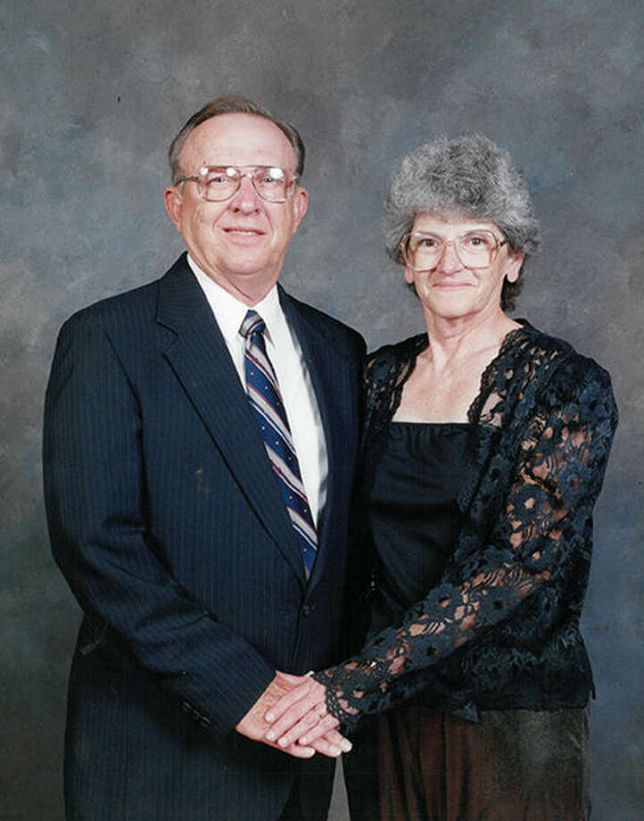 Judy Dickover with her husband.