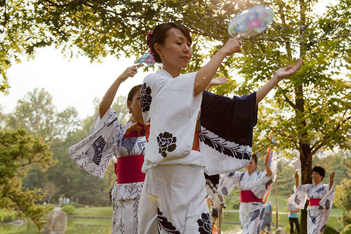 A scene from a previous Japanese Festival at the Missouri Botanical Garden.