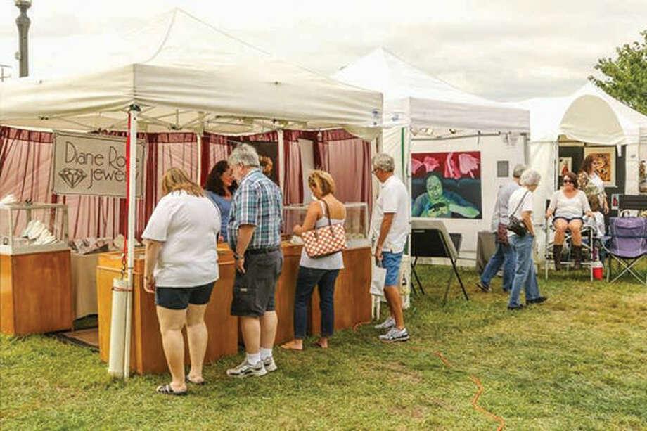 A view from the 2015 Edwardsville Art Fair.