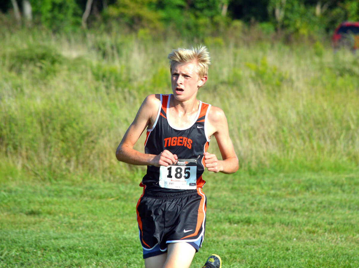 EHS freshman Jack Pifer competes in the boys' varsity race.