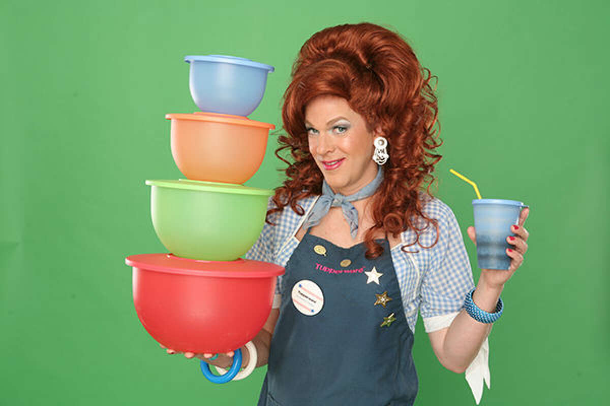 """A promotional photo for """"Dixie's Tupperware Party."""""""