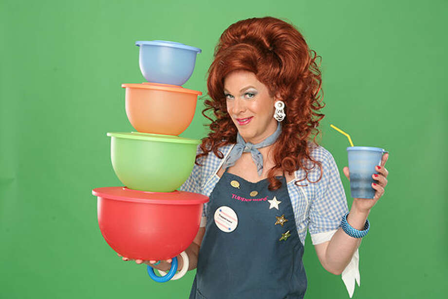 "A promotional photo for ""Dixie's Tupperware Party."""