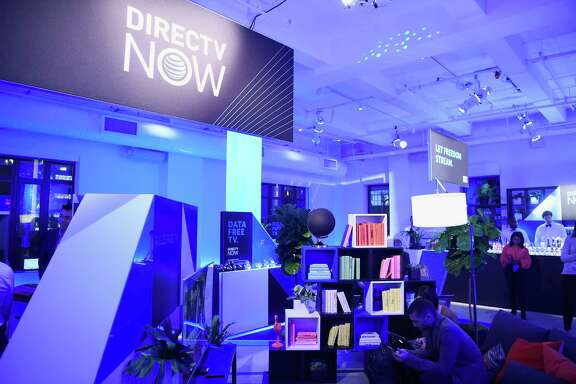 NEW YORK, NY - NOVEMBER 28:  A view of the lounge during AT&T's celebration of the Launch of DIRECTV NOW at Venue 57 on November 28, 2016 in New York City.