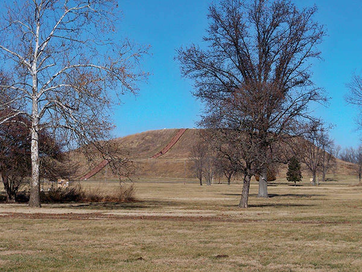 Monk's Mound at Cahokia Mounds.