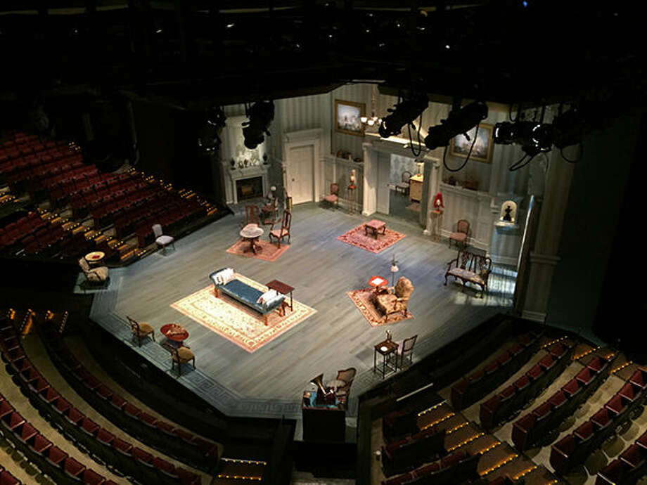 The stage at the Loretto-Hilton Center for the Performing Arts, home of the Repertory Theatre of St. Louis.