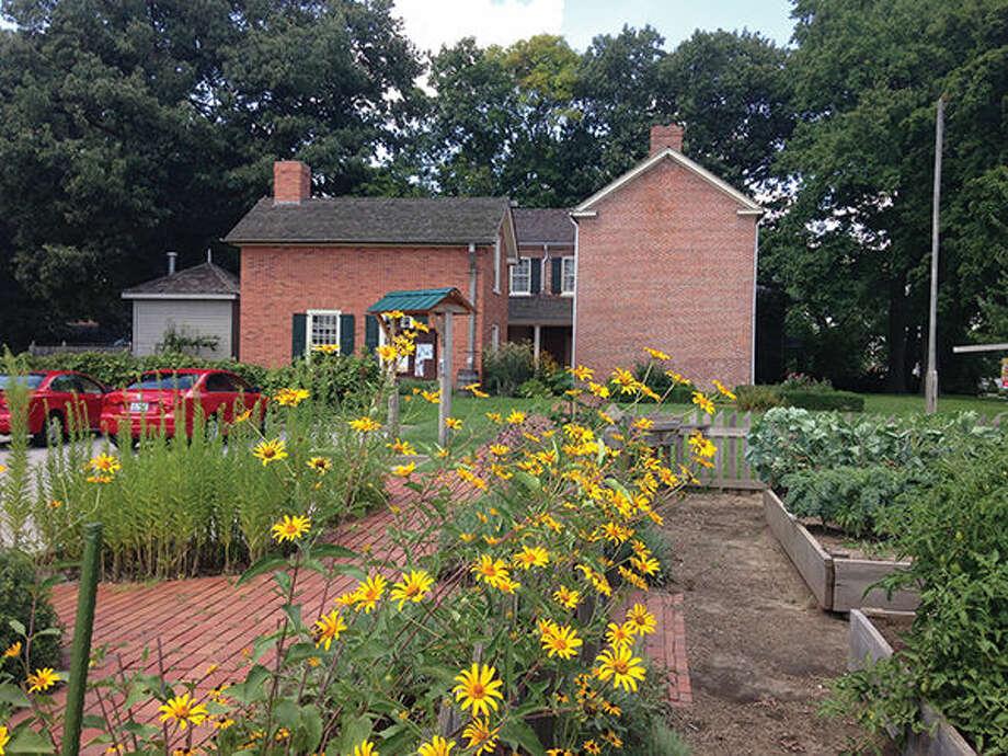 The Historic Teaching Garden at the 1820 Col. Benjamin Stephenson House.
