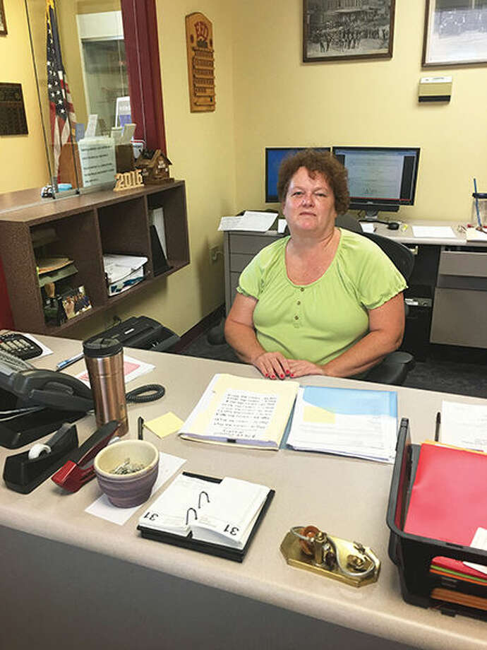Anna Roseman is the new office assistant for the Edwardsville Fire Department.