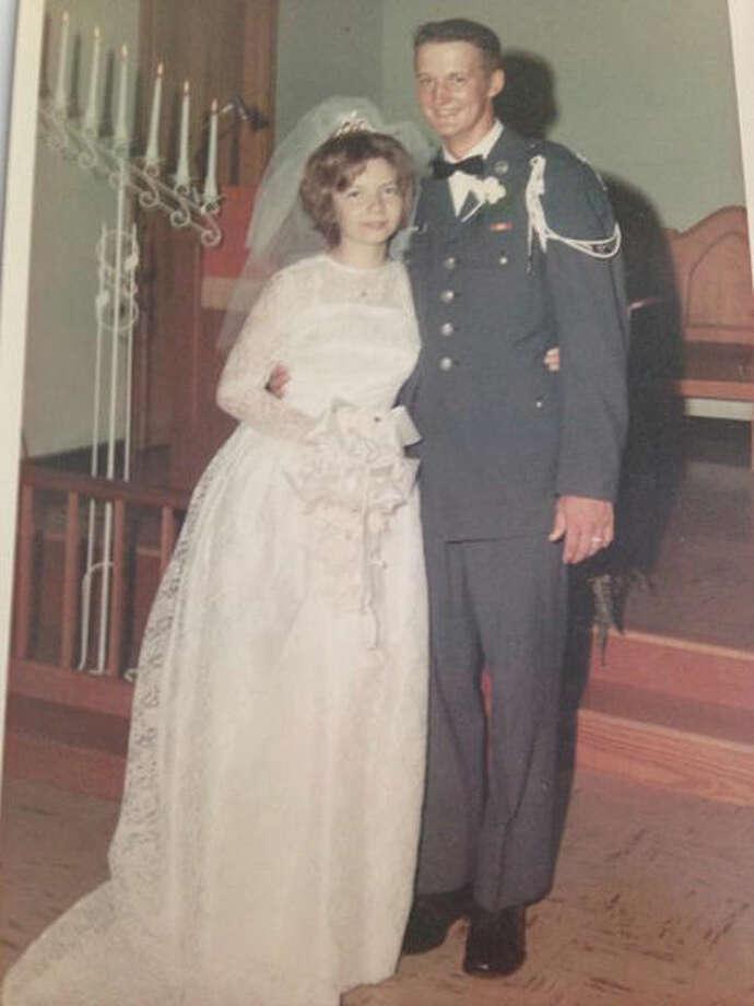 Louis and Diana Schneider at their wedding.