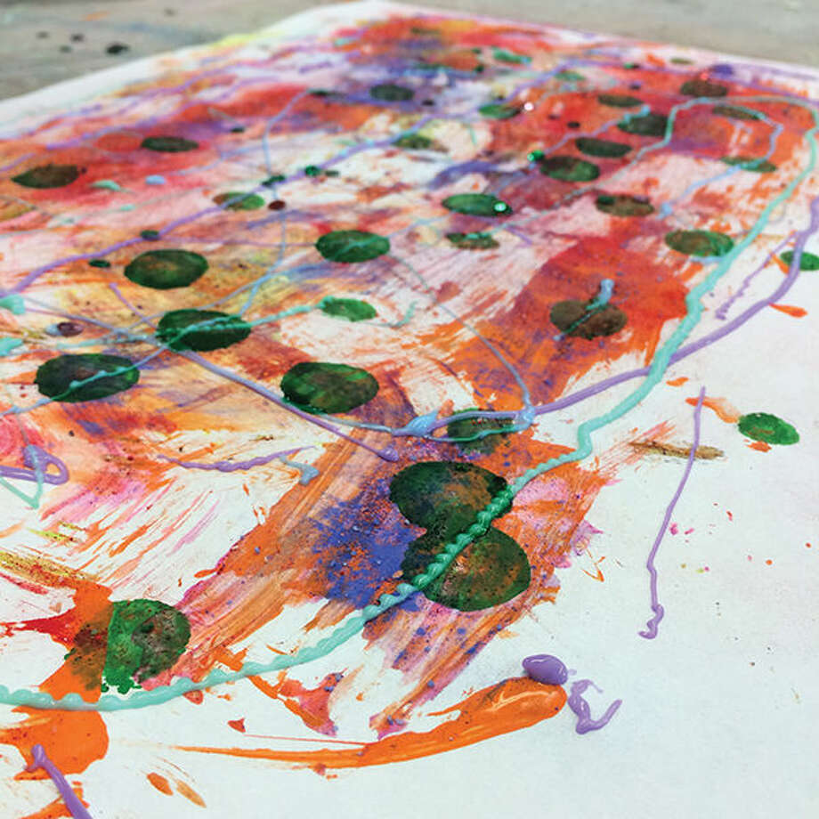 A creation by a student in the Edwardsville YMCA's Summer Art program.