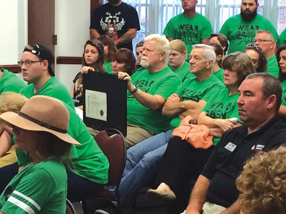 Friends and family members of Abby McElroy attended the Maryville board meeting to encourage trustees to make safety improvements to the intersection of Keebler Road and Route 162. McElroy, who was 16, died as the result of an automobile accident at the intersection on July 31, 2015.
