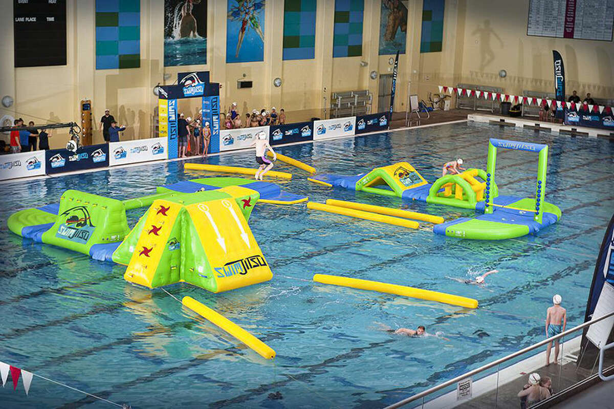 This is the obstacle course that will comprise the Ultimate Aquatic Challenge at Chuck Fruit Aquatic Center on Aug. 13.