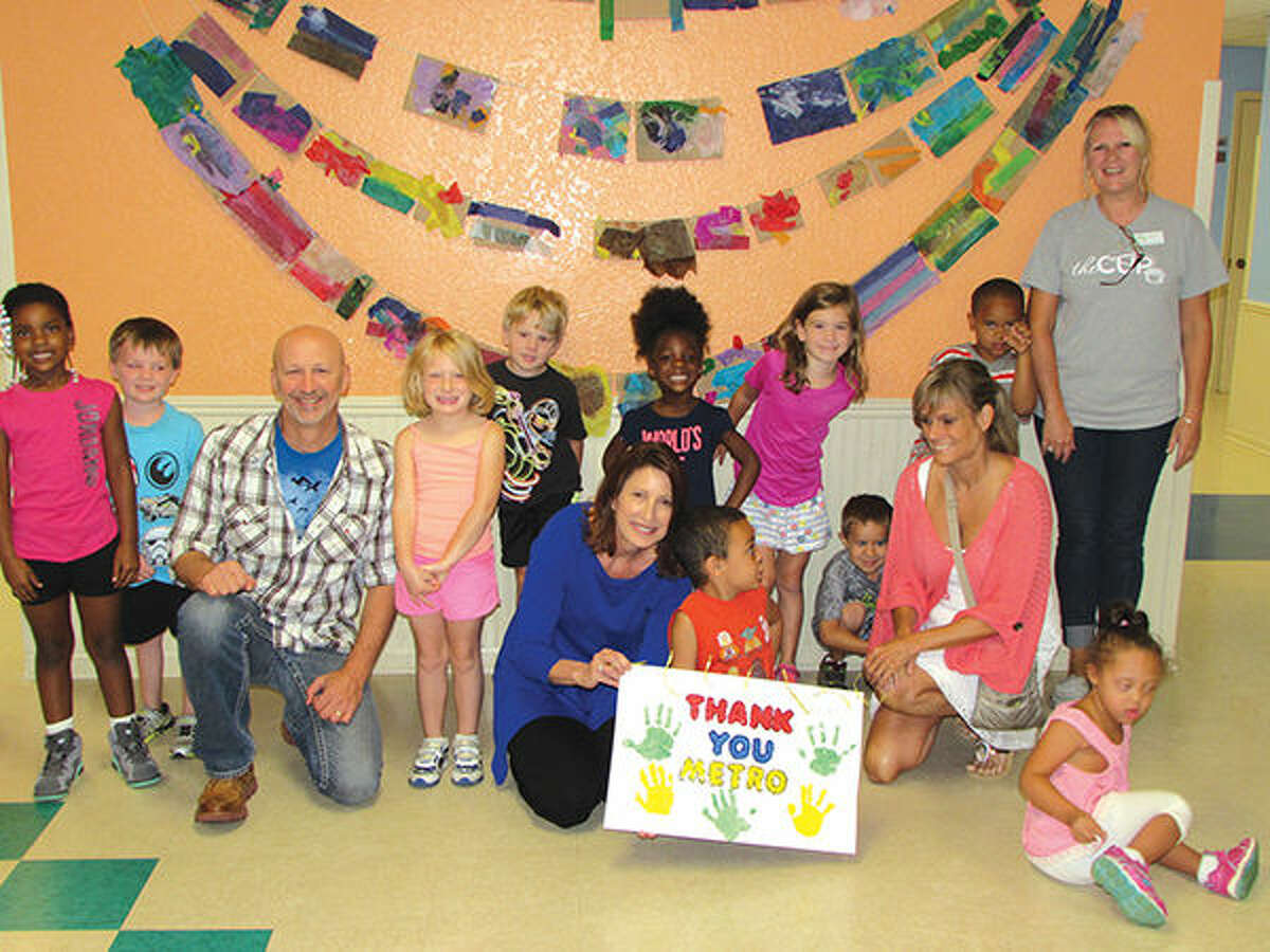 Children from the YMCA's Allison Cassens Early Childhood Development Center thank Metro Community Church.
