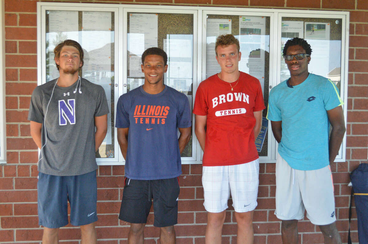 Semifinalists for the Pro Wild Card Challenge at Edwardsville High School are, left to right, Strong Kircheimer, Julian Childers, Peter Tarwid and OlukayodeAyeni.