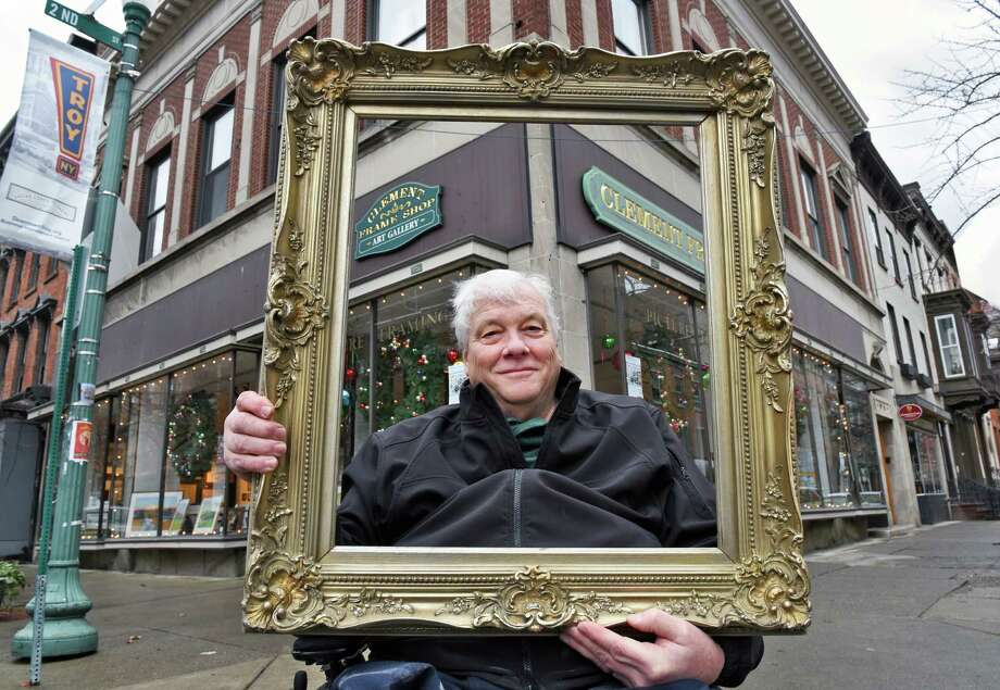 Co-owner Tom Clement outside the Clement Frame Shop at Monument Square Tuesday Nov. 29, 2016 in Troy, NY.  (John Carl D'Annibale / Times Union) Photo: John Carl D'Annibale / 20038980A