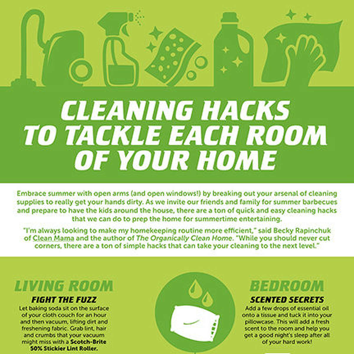 Cleaning Hacks to Tackle Each Room of Your Home