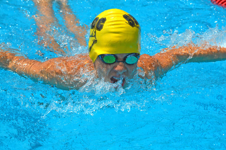 Andrew Billhartz of Sunset Hills competes in the 13-14 boys 100-yard IM.