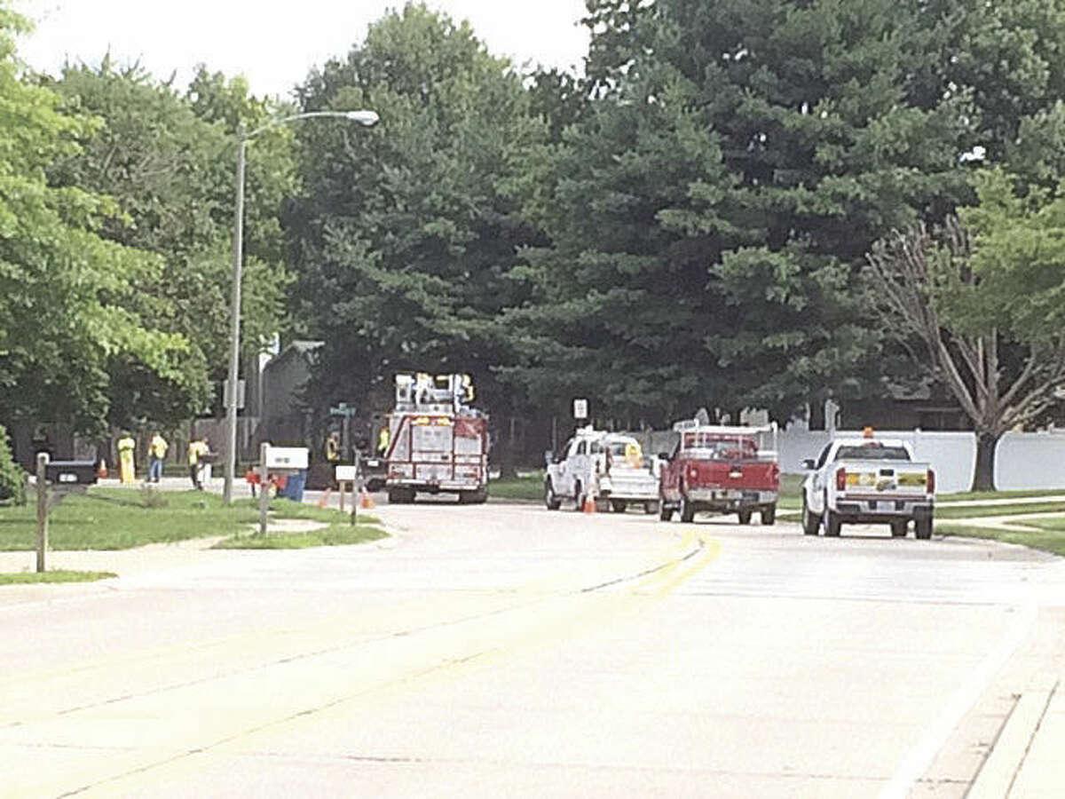 Gas leak on Esic Drive.