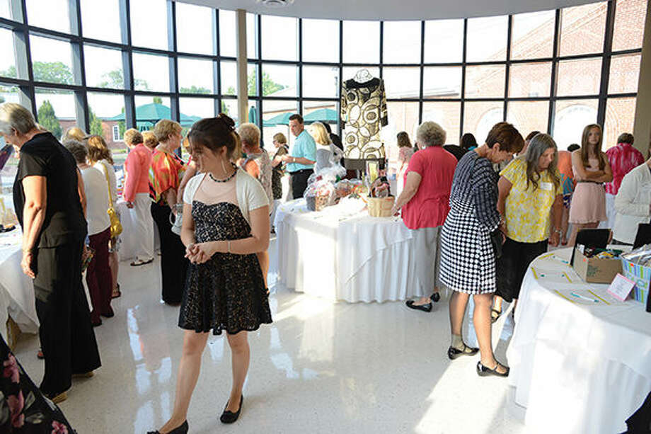 A view of the silent auction at the 2014 Horizon of Hope event.