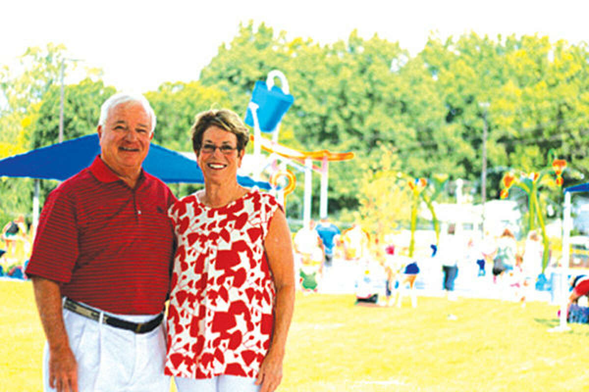 Gordon and Holly Broom have donated $50,000 for Leon Corlew Park's family pavilion. The ribbon cutting ceremony for the park is scheduled at 9 a.m. Saturday.