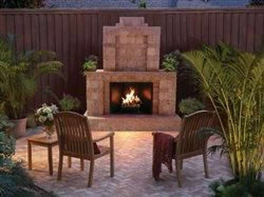 Upgrade your backyard with a DIY outdoor fireplace