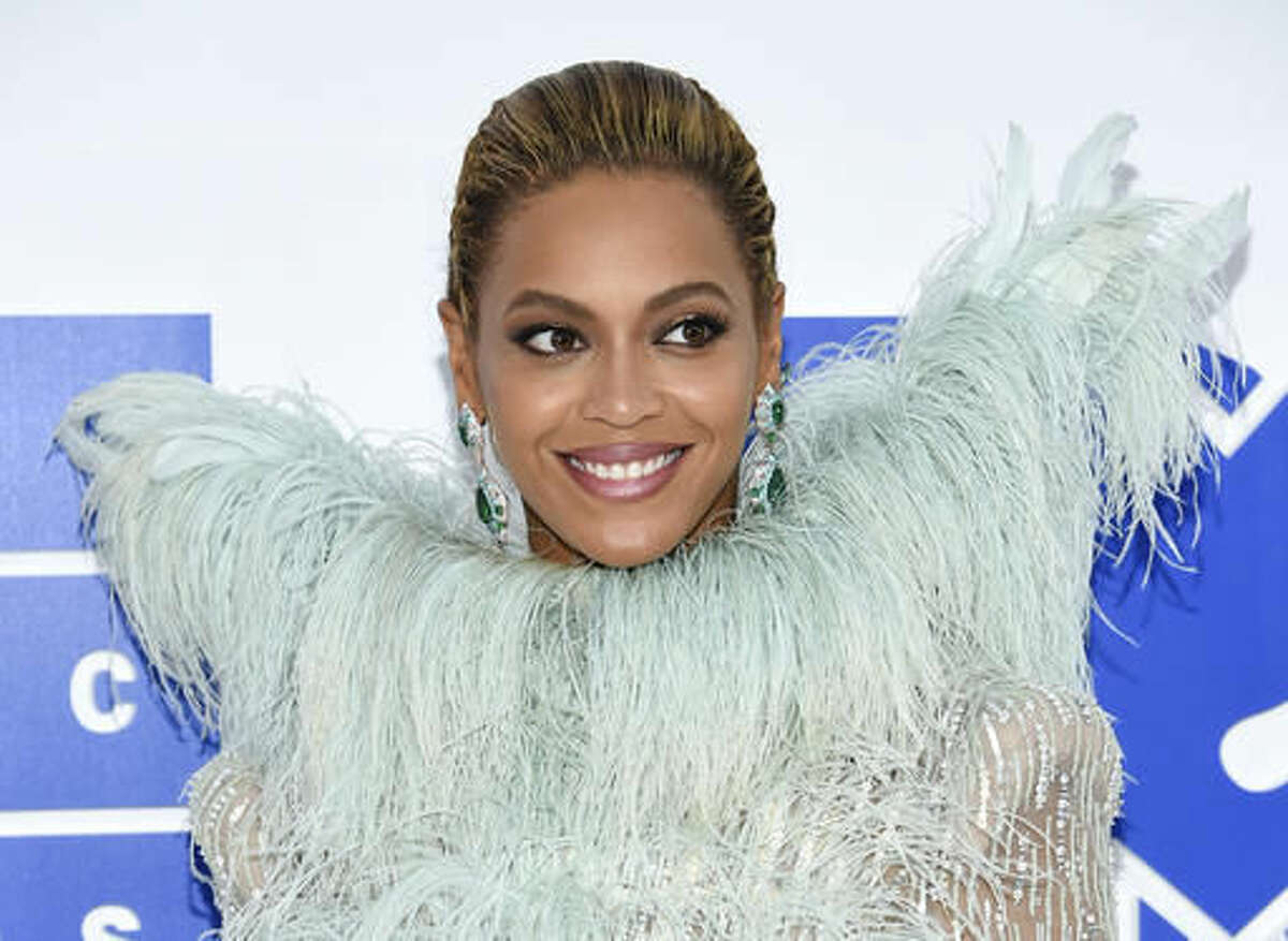 FILE - In this Aug. 28, 2016 file photo, Beyonce Knowles arrives at the MTV Video Music Awards at Madison Square Garden, in New York. Beyonce performed