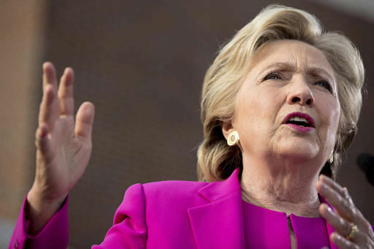 Democratic presidential candidate Hillary Clinton speaks at a rally at Pitt Community College in Winterville, N.C., Thursday, Nov. 3, 2016. (AP Photo/Andrew Harnik)