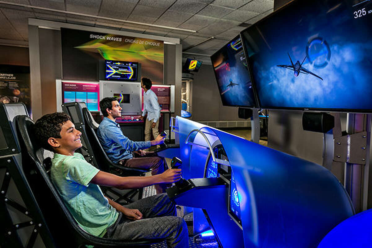 Here, guests use aerodynamic principles to design their own virtual fighter jets and race against other pilots in a high-speed flying competition.
