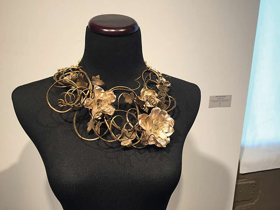 A piece of jewelry by Caitlin McDonald.