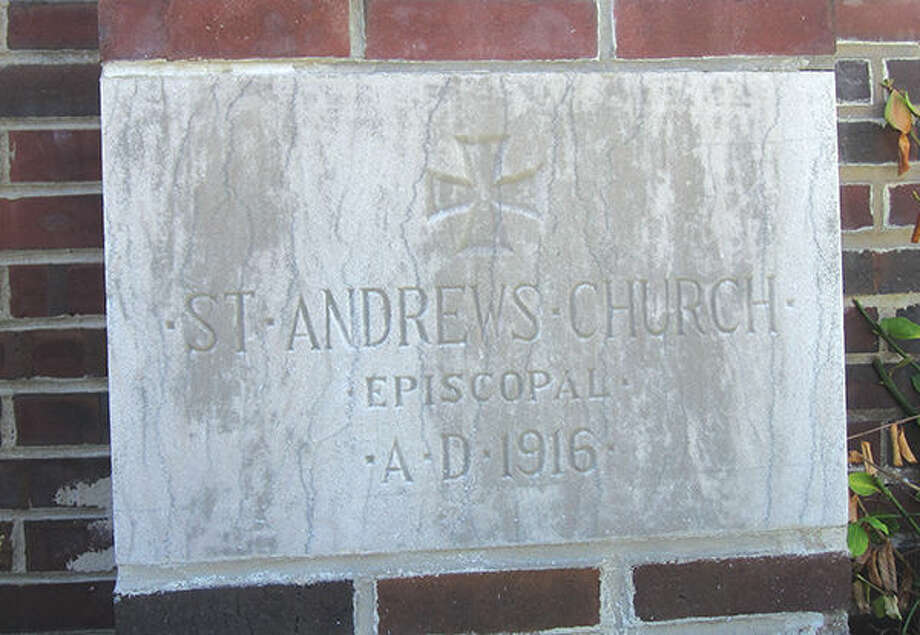 The cornerstone at St. Andrew's Episcopal Church was originally set on Oct. 8, 1916.