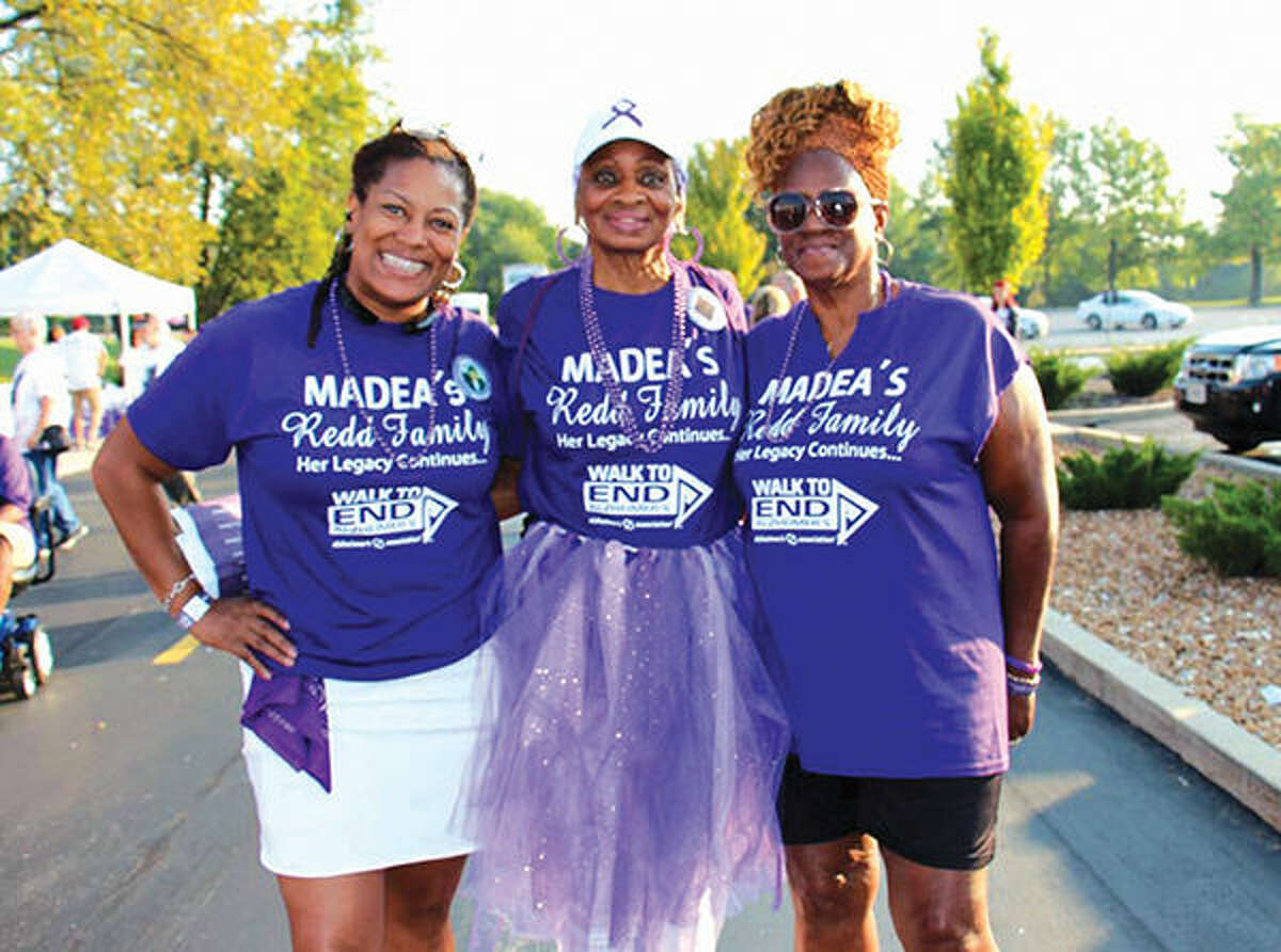 Members of Madea's Redd Family Team, which took part in the Walk to End Alzheimer's.