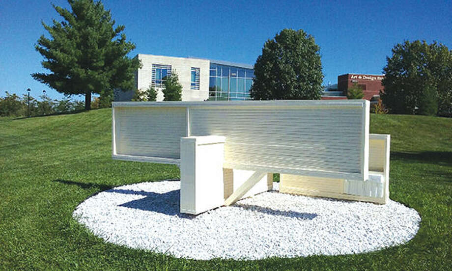"Brad Eilering's ""Turning the Page"" will be part of this year's Sculpture Walk at SIUE."