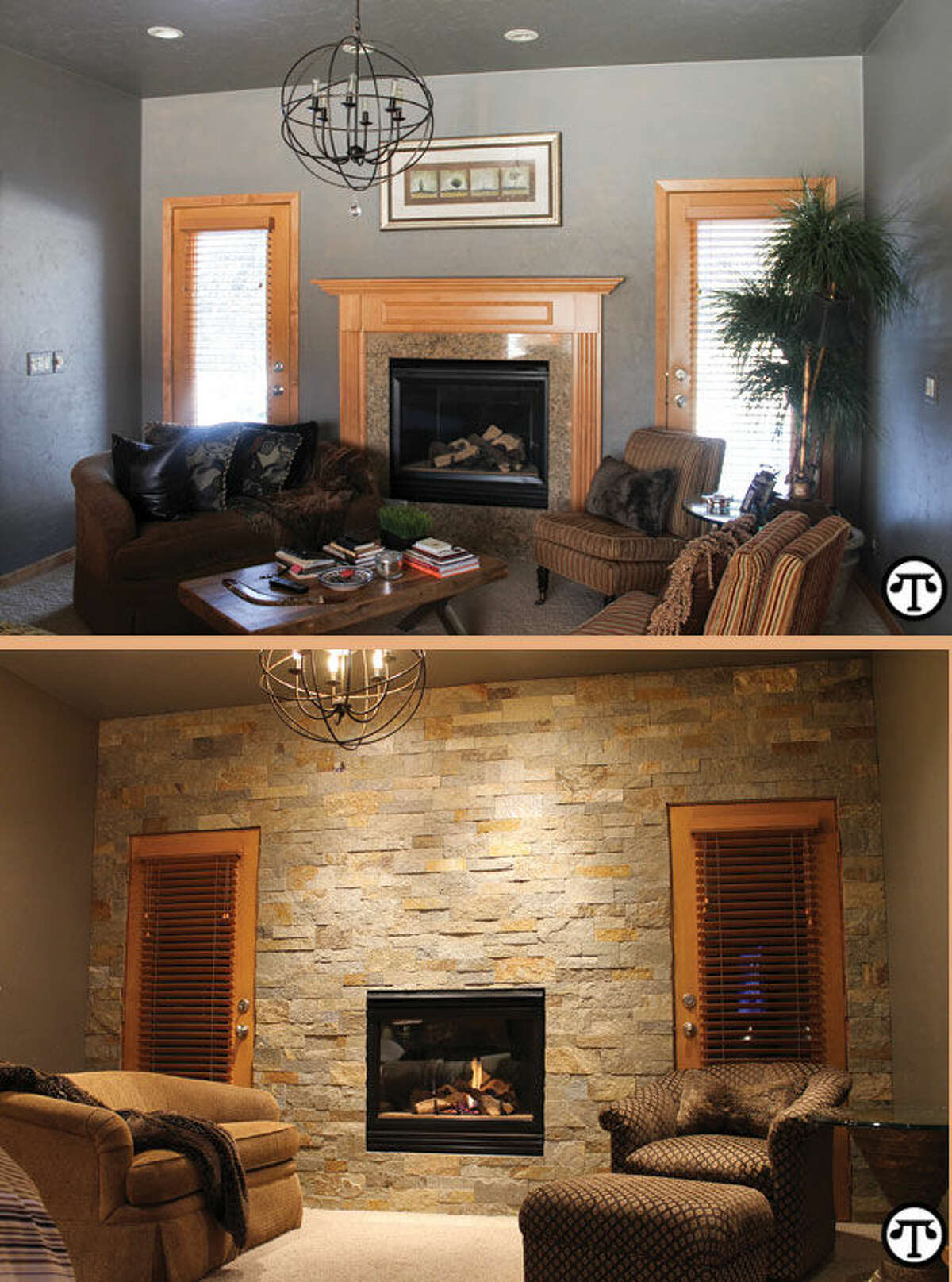 Stone: Copper Ledgestone. Photo courtesy of Natural Stone Veneers International. A new look for your fireplace can help you warm up to the room all over again. (NAPS)