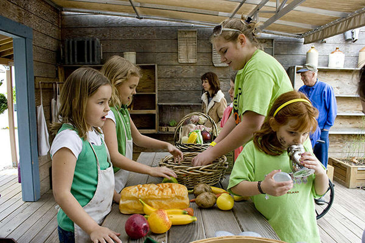 A scene from a previous fall event at the Children's Garden in the Missouri Botanical Garden.