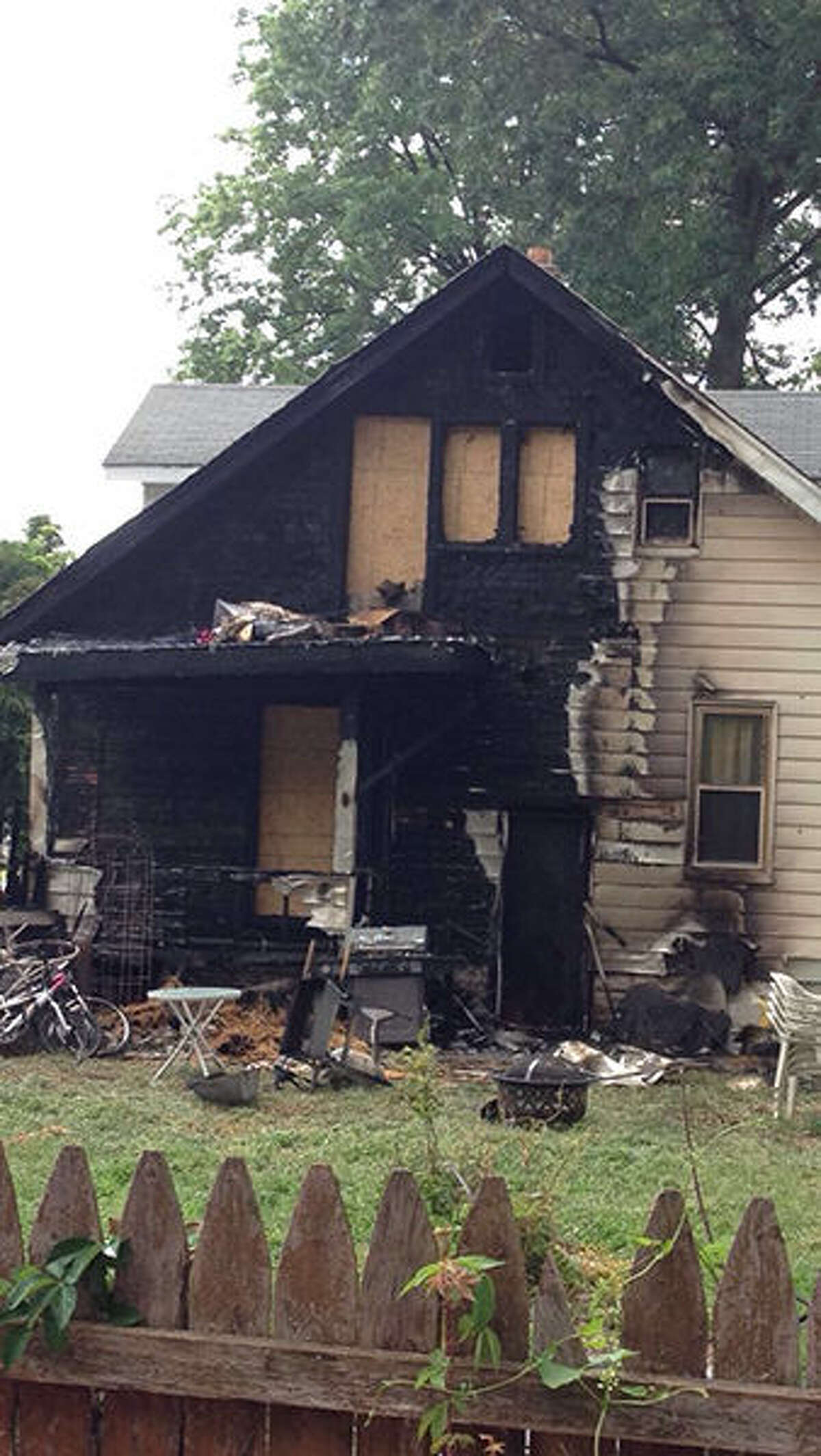 A fire late Sunday caused extensive damage to the back of the home at 906 Ruskin Ave.