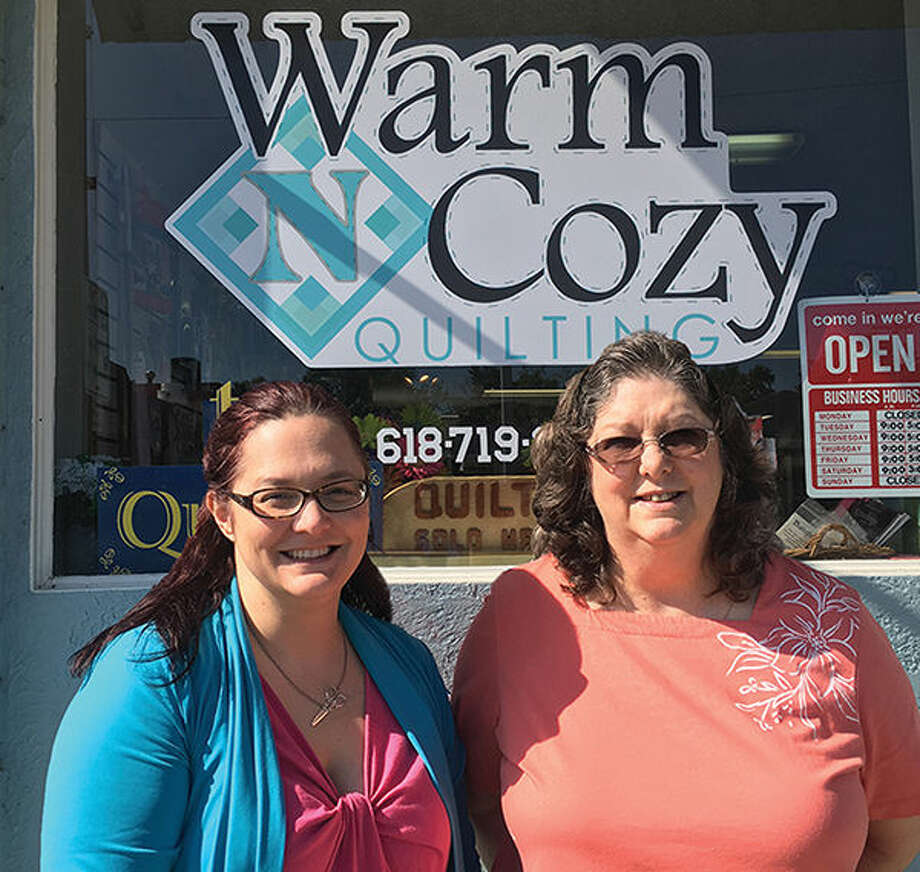 Warm N Cozy Quilting co-owners Danielle Cyvas and Debbie Chitty.