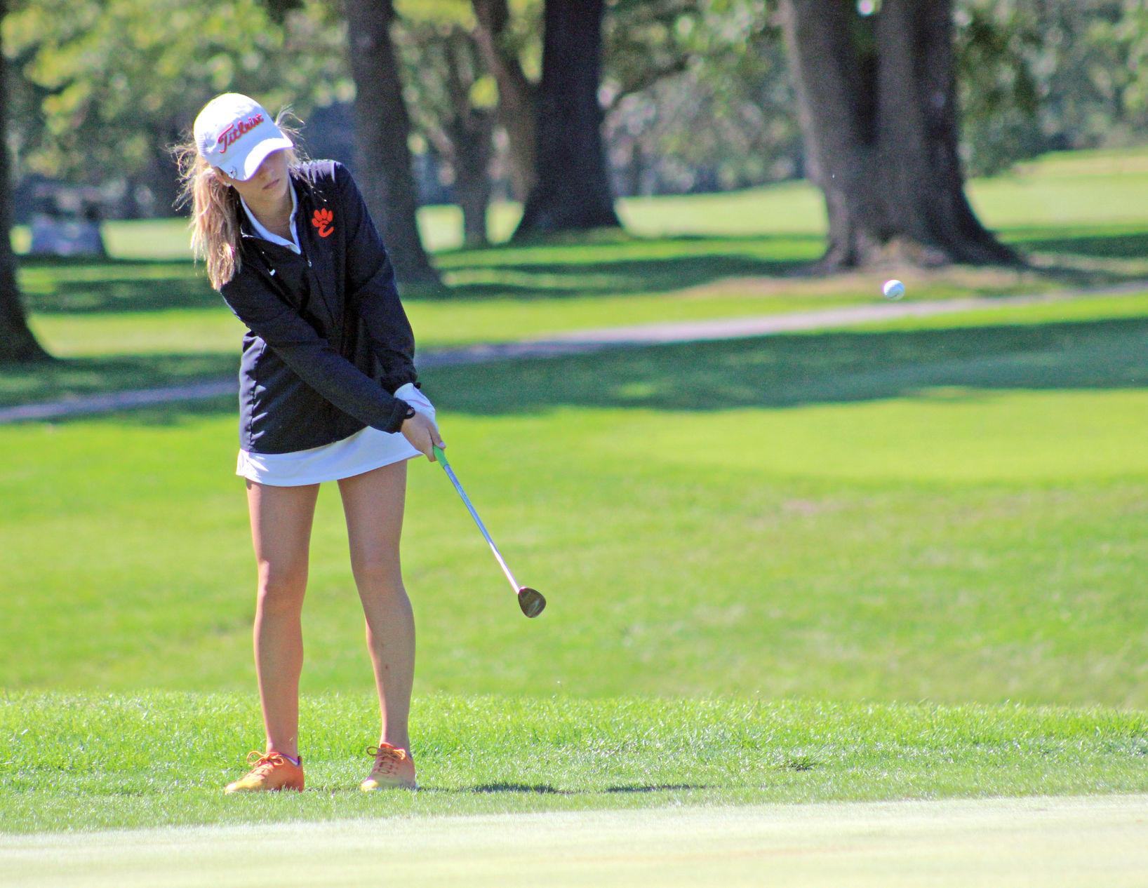 3A girls golf: High drama as Perkins wins playoff, DH wins team title (again) - St