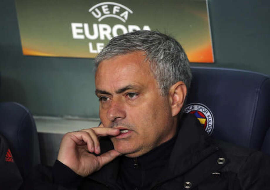 Manchester United's manager Jose Mourinho, waits prior to a Europa League group A soccer match between Fenerbahce and Manchester United, in Istanbul, Thursday, Nov. 3, 2016. (AP Photo)