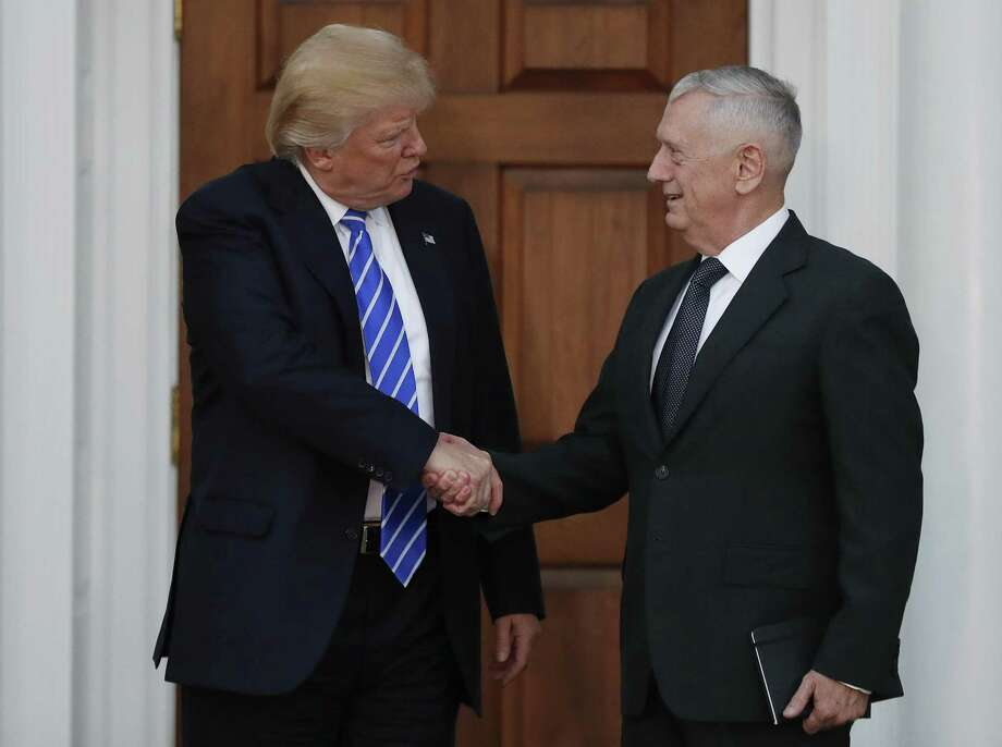 President-elect Donald Trump didn't meet James Mattis till after the election. The retired general says Iran is the greatest threat to Mideast peace. Photo: Carolyn Kaster / Associated Press / AP