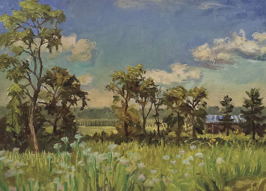A painting of the Watershed Nature Center by Michael Neary.