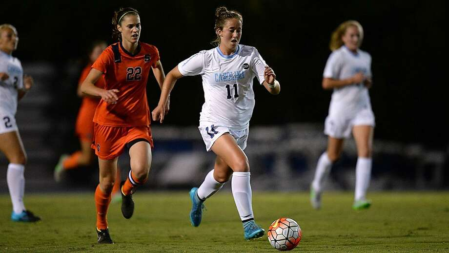 Mill Valley's Darcy McFarlane, senior defensive midfielder for UNC, is back in the Bay Area to play in the College Cup, soccer's final four that opens Friday at San Jose's Avaya Stadium. Photo: Jeffrey A. Camarati, UNC Athletic Communications