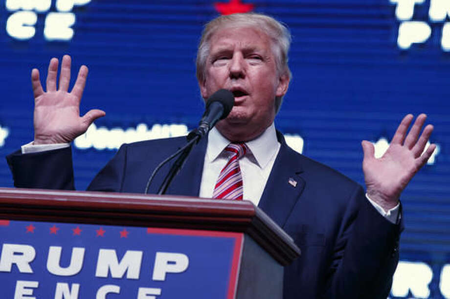 Republican presidential candidate Donald Trump speaks during a campaign rally, Tuesday, Oct. 11, 2016, in Panama City, Fla. (AP Photo/ Evan Vucci)