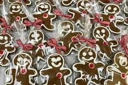 Gingerbread men at gingerbitz bakery in New Canaan.