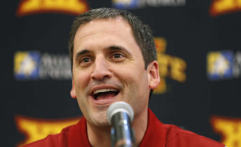 Iowa State head coach Steve Prohm speaks during NCAA college basketball media day, Wednesday, Oct. 12, 2016, in Ames, Iowa. (AP Photo/Charlie Neibergall)