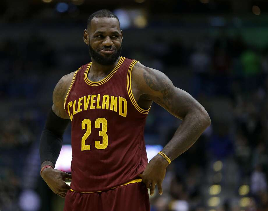 Cleveland Cavaliers' LeBron James smiles during an NBA basketball game against the Milwaukee Bucks Tuesday, Nov. 29, 2016, in Milwaukee. (AP Photo/Aaron Gash) Photo: Aaron Gash, Associated Press