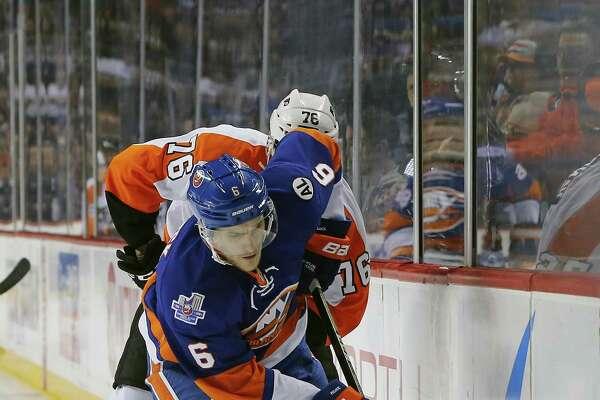 The Islanders sent defenseman Ryan Pulock to Bridgeport as he recovers from a broken foot.