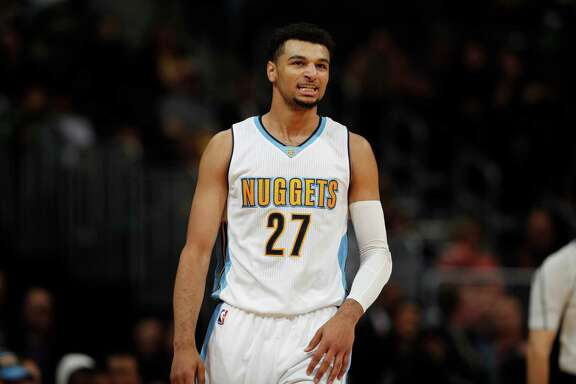 Denver Nuggets guard Jamal Murray (27) in the second half of an NBA basketball game Sunday, Nov. 20, 2016, in Denver. The Nuggets won 105-91. (AP Photo/David Zalubowski)
