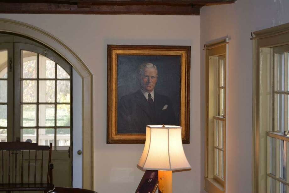 A portrait of Stephen Tyng Mather hangs in the parlor of the Mather Homestead that has been in the same family since the 1600s. Now, the family is hoping to turn it over to the historical society to be preserved. The home of Stephen Mather, who founded the National Parks Service is on Stephen Mather Rd. Photo: Bob Maslin / Contributed