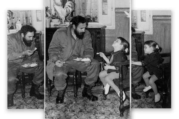 Fidel Castro and Girl
