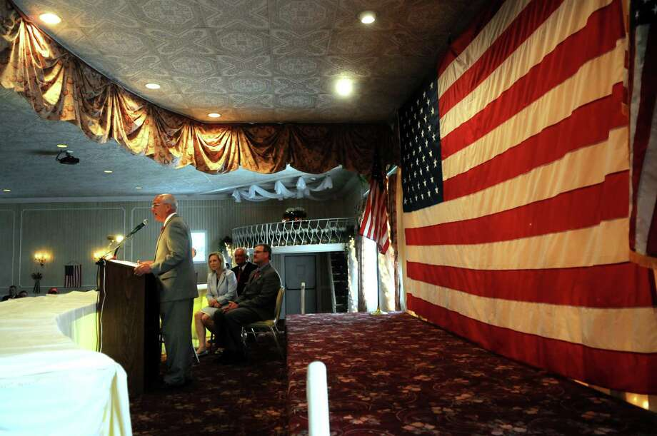 U.S. Rep. Paul Tonko addresses a medals ceremony at Michael's Banquet House in 2011. Albany Medical Center proposes to turn the Colonie parcel into a medical building, town officials said. (Times Union archive) Photo: Paul Buckowski / 00013336A